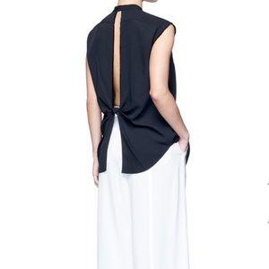 Helmut Lang Split Back Knot Jacquard Twill Shirt